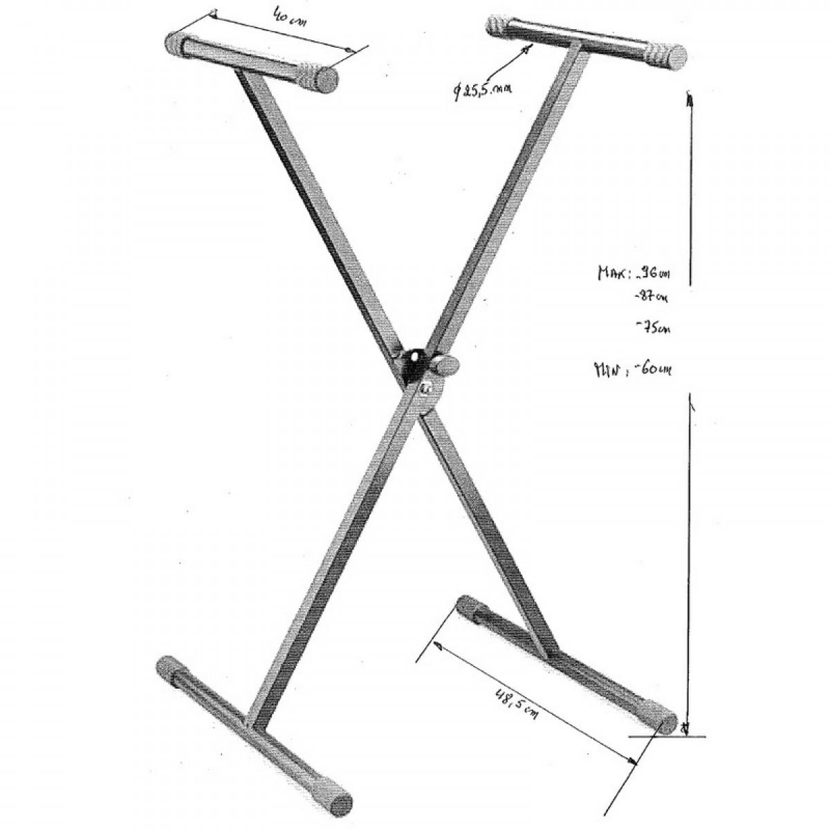 X-Ständer für Keyboard-max 30 kg Tragkraft