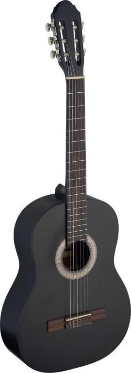 4 4 konzert gitarre schwarz matt klassikgitarre. Black Bedroom Furniture Sets. Home Design Ideas