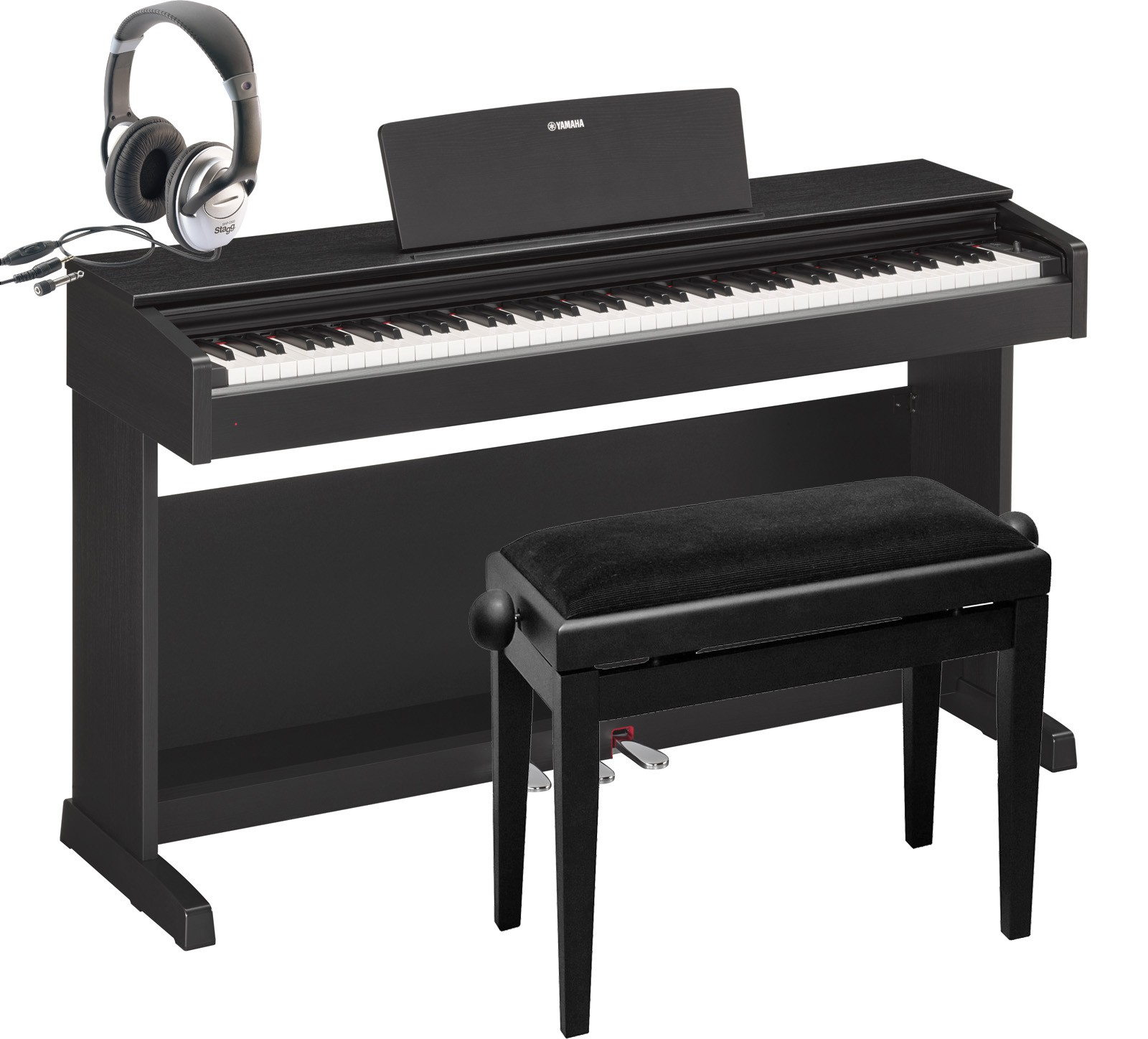 e piano yamaha ydp 142 schwarz set abverkauf ydp142. Black Bedroom Furniture Sets. Home Design Ideas