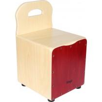 Kinder-Cajon mit EasyGo-Rückenlehne, Frontplatte rot