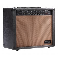 40 W RMS Akustik-Gitarrenverstärker, Federhall, von Stagg