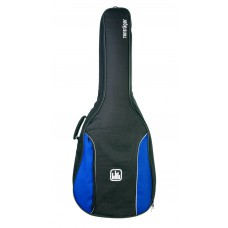 Tasche für 4/4 Konzertgitarre, 10 mm Polsterung, blau-schwarz