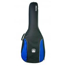 Tasche für 3/4 Konzertgitarre, 10 mm Polsterung, blau-schwarz