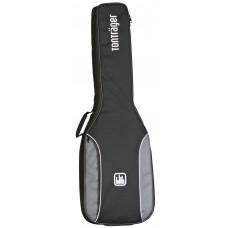Tasche für E-Gitarre, 10 mm Polsterung, grau-schwarz