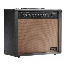 60 W RMS Akustik-Gitarrenverstärker m. Federhall