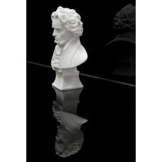 Beethoven Büste, Statue mit Sockel ca. 24 cm, Beethovenbüste weiss