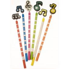 Bleistift Musikmotiv und Klaviatur