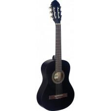 Klassische Gitarre 1/2, schwarz matt