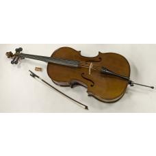 1/4 vollmassives Cello mit Ahorn Korpus und Tasche