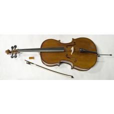 1/2 vollmassives Cello von Stagg mit Ahorn Korpus und Tasche