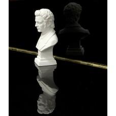 Komponisten-Büste, Chopin, weiß, Höhe 11 cm