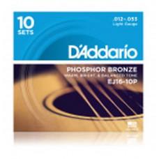 DAddario EJ16-10P Gitarrensaiten, 10er Pack