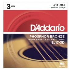 DAddario Saitensatz EJ17-3D, 3er Pack