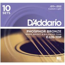 DAddario EJ26-10P Gitarrensaiten, 10er Pack