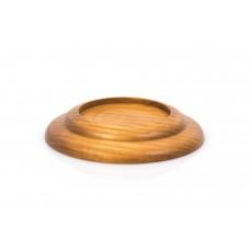 Flügeluntersetzer Holz Eiche 80 mm geschwungen