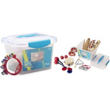 Kinder Percussionset in transparenter Kunststoff-Box