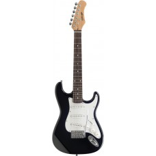 E-Gitarre - 3/4 Model, Stagg S300, schwarz