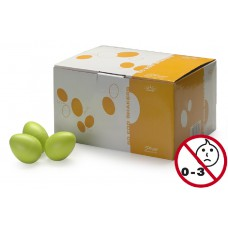 Schütteleier Box in grün matt, 50 Stück Egg Shaker, Rasselei
