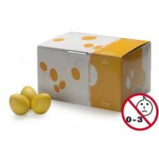Schütteleier Box in gelb matt, 50 Stück Egg Shaker, Rasselei