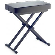 Keyboardbank, X-Form, mit einklappbaren Beinen, schwarz, sehr robust