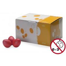 Schütteleier Box in rot matt, 50 Stück Egg Shaker, Rasselei