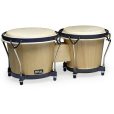 "6"" u. 7"" Traditionelles Bongo Set mit Holzkessel"