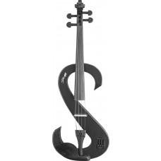 4/4 Silent Viola in schwarz, Set mit Koffer und Bogen