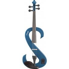 4/4 Silent Viola in blau, Set mit Koffer, Bogen usw.