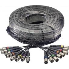 Multicorekabel - 8 x f. XLR / 8 x m. XLR