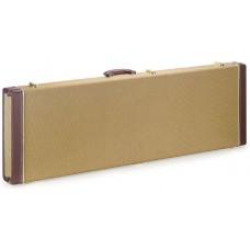 Gold Tweed rechteckkoffer für Bassgitarre