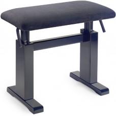 Klavierbank hydraulisch schwarz matt
