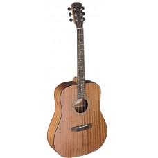 akustische Dreadnought-Gitarre, Mahagoni massiv