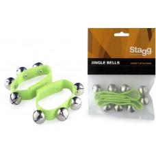 2 Glocken-Armbänder, Breite 20mm, grün, SWRB4 S/GR