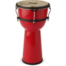 "8"" Glasfaser Djembe, Farbe rot"