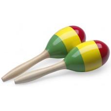 Holz Maracas, Reggae, (Paar), oval