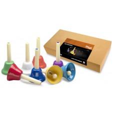 Set aus 8 Handglocken, Fasching - 8 farb-codierte Töne