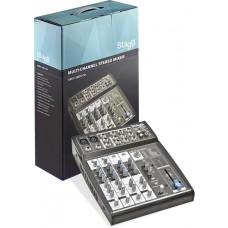 Multi-Kanal Stereomixer mit 2 Mono- & 2 Stereo-Eingangskanälen geeignet für PC