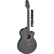 Mini-Jumbo, elektro-akustische Westerngitarre mit FISHMAN Preamp, schwarz Glanz, SA40MJCFI-BK