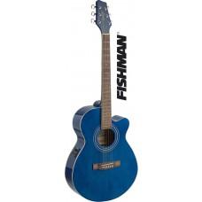 Mini-Jumbo, Westerngitarre mit FISHMAN Preamp, blau