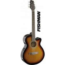 Mini-Jumbo, Westerngitarre mit FISHMAN Preamp, braun Sunburst