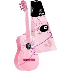 Klassik-Gitarre, Kindergitarre 3/4 in pink, Mädchen