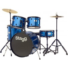 """22"""" TIM122B BL Drumset, Schlagzeug, Komplettset, blau"""