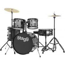 """20"""" Drumset, komplett, schwarz"""