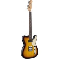 Vintage E-Gitarre in braun-sunburst