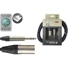 6 Meter Audio Kabel XLRmale-Stereoklinke