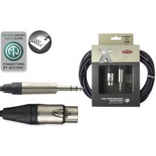 6 Meter Audio Kabel XLRfemale-Stereoklinke