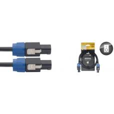 Lautsprecherkabel: 3 Meter - SpeakON / SpeakON, 4-Pin, 2 angeschl.