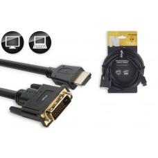 N-Serie HDMI 1.4 an DVI Dual Link Kabel, 5 Meter