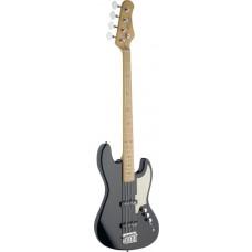 4-saitige E-Bassgitarre, schwarz
