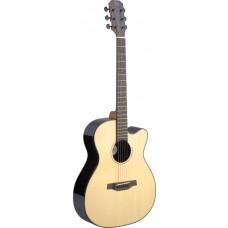 Lyne Serie, E/A Auditorium Gitarre m. Cutaway u. massiver Fichtendecke